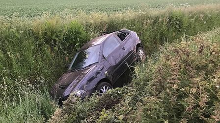 The scene of an accident on Sutton Road, Wisbech, on June 2. PHOTO: Fen Cops