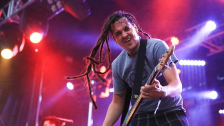Roger Lima of Less Than Jake at Slam Dunk Festival South 2017 in Hatfield [Picture: Kevin Richards]