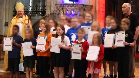 Children from Anthony Curton and Tilney All Saints Primary School have written and then recorded a s