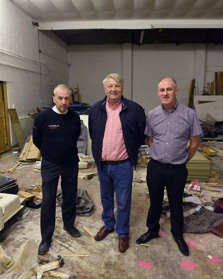 Wisbech St Mary new sports facility: Martin Holmes, Paul Albutt and Dave Parrin. PHOTO: Ian Carter.