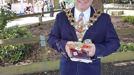 Wisbech mayor Steve Tierney at one of the many events he has attended since taking office.
