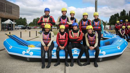 Sir frederic Osborn pupils at the Lee Valley White Water Centre. Picture: Lee Valley White Water Ce