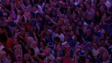 European flags flown at Last Night of the Proms. Photograph: BBC.
