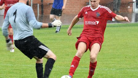 Harry Limb during his Wisbech Town days.