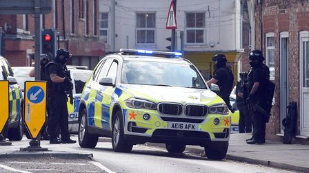 A 48-year-old man was arrested on suspicion of possession of a firearm in Wisbech yesterday afternoo