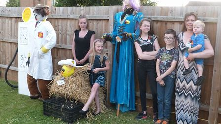 The scarecrow prize-giving.