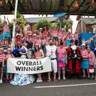 Wisbech Rose Fair 2017. The winning float with mayor Cllr Steve Tierney.