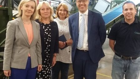 MP Liz Truss holds a meeting with British Sugar at Wissington about cannabsi smellsr eported across
