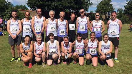 Fenland Running Club members at March AC's Whitemoor 5 mile race.