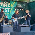 Jimmy C & The Blues Dragons take to the stage at Macfest. Picture: Luke Duffell