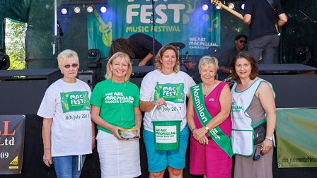 The organising committee of Macfest (from L-R) Joan Shelley, Janet Wright, Josie Chamberlin, Sally F