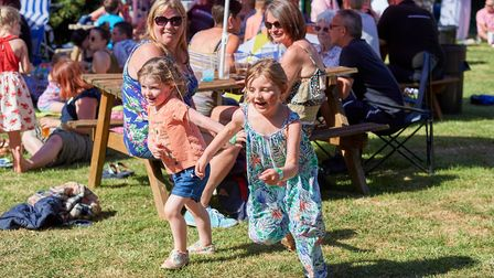 The weather was glorious as families enjoyed everything the festival had to offer. Picture: Luke Duf