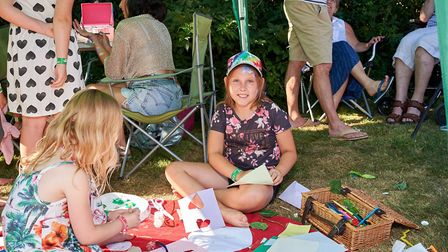 As well as live music there was plenty to do, including arts and crafts for the children. Picture: L