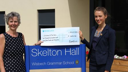 Sixth former Katy Landles raises £2,800 for Children & The Arts with exhibition