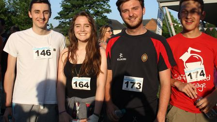 Staff and pupils at Wisbech Grammar School raised £2,900 for Cancer Research with a 'race at their p