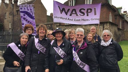 The east Hertfordshire group sent a delegation to a national demonstration to Parliament in March.