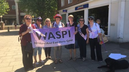 The east Hertfordshire branch campaigned in central WGC in May.