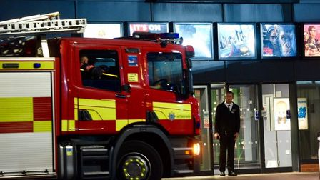 Fire crews at Light Cinema, Wisbech.The cinema has closed for a short period. (PHOTO: Wisbech Stand