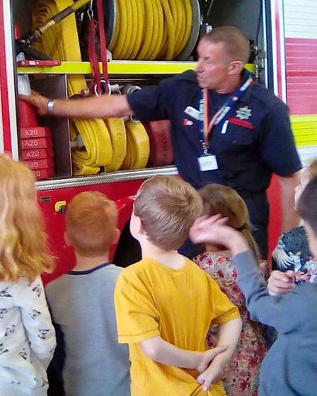Children from the Wisbech Day Nursery visited Wisbech Fire Station on July 25.