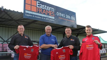 Anthony and Darren Boyle, directors of Wisbech Town's kit sponsors, Eastern Frames, were also at the