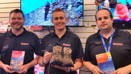 David Youngs, Stephen Holt and Adam Gray will spend their August bank holiday climbing up Snowdon to