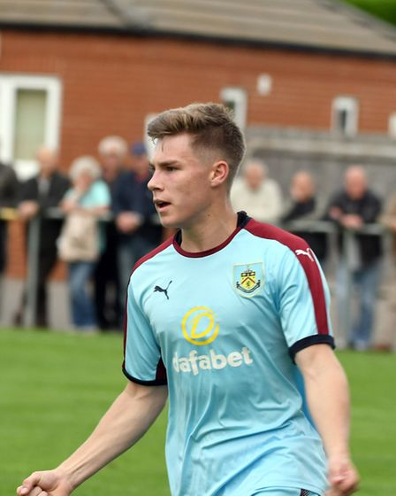 Limb celebrates netting his third goal in as many games for Burnley's development side. PHOTO: Ian C