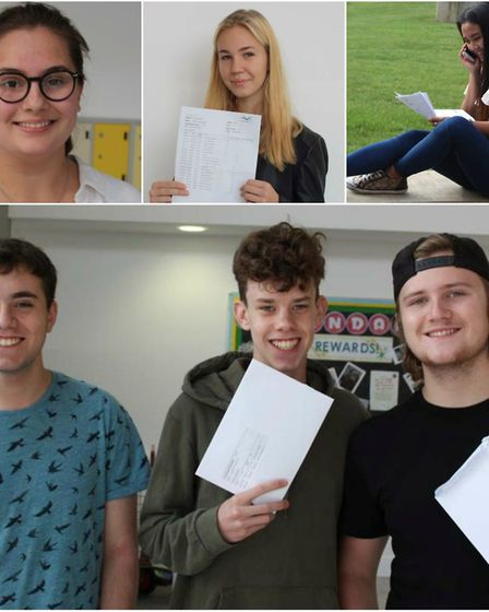 Thomas Clarkson Academy GCSE results day: Celebrating students include top left Annabelle Holmes, ce