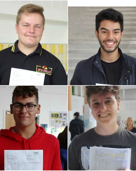 Thomas Clarkson Academy GCSE results day: (from top left) Justina Slicas, Aaron Granger and (bottom