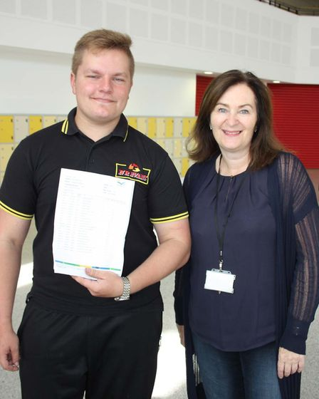 Thomas Clarkson GCSE Results Day: Justine Slicas with Anne