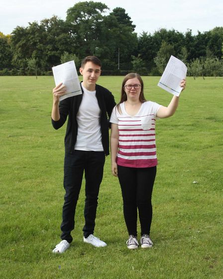 Thomas Clarkson GCSE Results Day: Ashleigh Ward and Alyx Haines