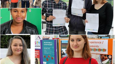A level results day at Thomas Clarkson Academy, Wisbech