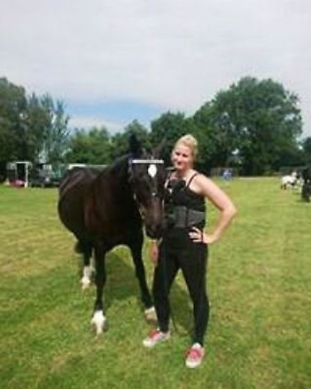 Kayleigh Cox back on her feet and back to horse riding.