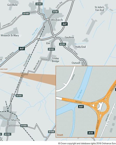 A decision has been made about the preferred route of works to improve the A47 at Guyhirn