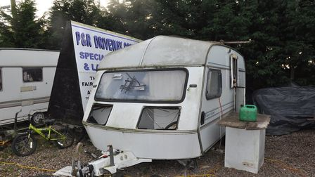 Caravan which was 'home' to victim of modern slavery gang