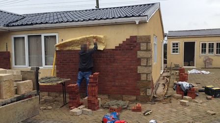 Building work at home of John Rooney