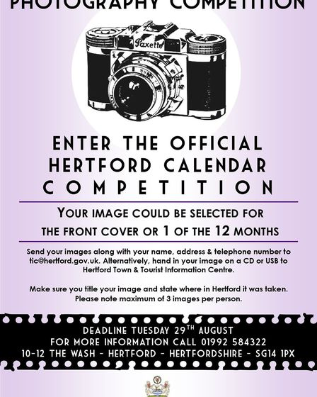 Photography competition for Hertford's official calendar