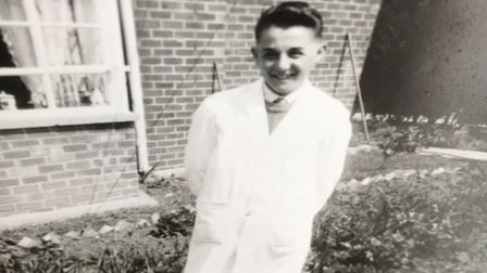 'Grocery boy' Brian Webb, aged 14, who worked in Bernie Chapman's shop after school and at weekends