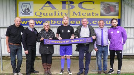 Wisbech St Mary officially named their stadium - the ABC Quality Meats Stadium - on Wednesday evenin