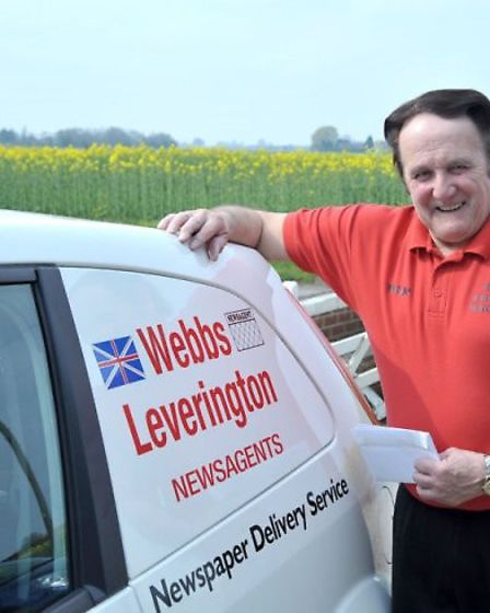 Brian Webb launched his postal service in 2014. Picture: Steve Williams.