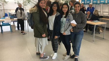 Smiles of relief as the waiting for A-level results is over