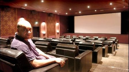 Former owner of The Luxe, Burleigh Ibbott, relaxing in one of its 70 seats ahead of its opening in 2