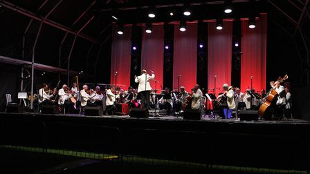 The National Symphony Orchestra perform at The Great British Prom 2017 at Knebworth
