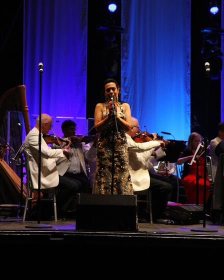 Annette Wardell on stage at The Great British Prom 2017