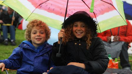 The Great British Prom 2017: Isaac, six, and Connie, nine, enjoy the concert.
