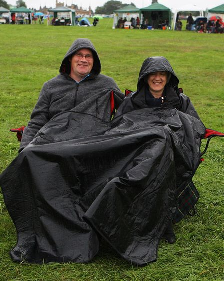 The Great British Prom 2017: Debbie and Steve Durbridge cover up to watch the concert.