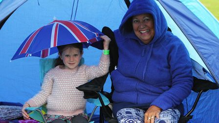 The Great British Prom 2017: Holly Lambert, aged five, and Diana Lambert watch the concert in their