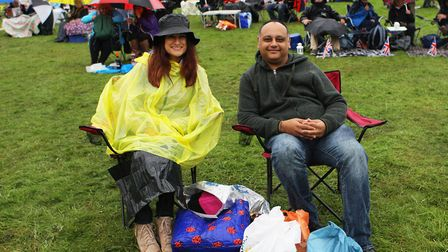 The Great British Prom 2017: Helen George and Umesh Raval enjoy the concert.