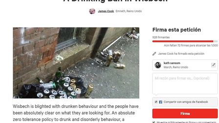 Petition for a street drinking ban in Wisbech