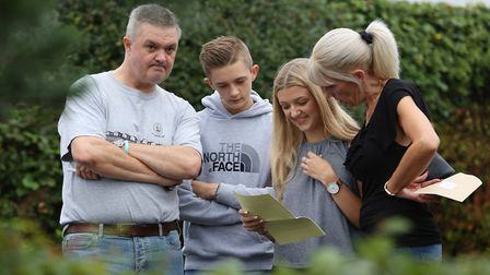 Students at Monk's Walk School pick up their A level results. Picture: Danny Loo