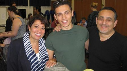 Chancellor's School head student Andrew Theophani and his family.